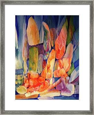 Rocks Underwater 2 Framed Print by Donna Acheson-Juillet