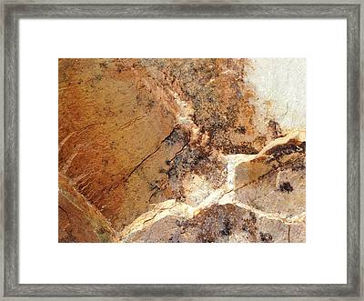 Framed Print featuring the photograph Rockscape 1 by Linda Bailey