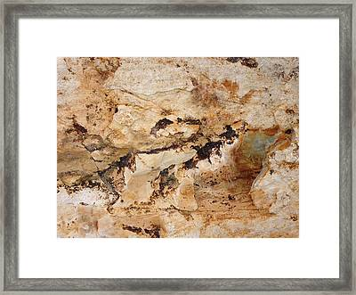 Framed Print featuring the photograph Rockscape 3 by Linda Bailey
