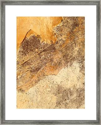 Framed Print featuring the photograph Rockscape 7 by Linda Bailey