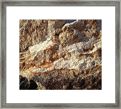 Framed Print featuring the photograph Rockscape 9 by Linda Bailey