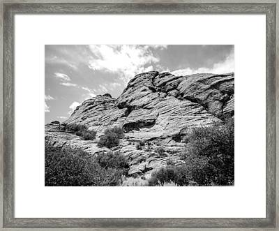 Rockscape In Greys Framed Print