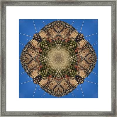 Framed Print featuring the digital art Rockscape Layers by Trina Stephenson