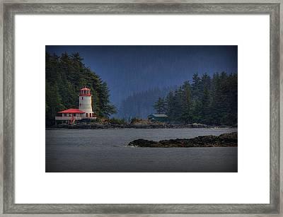 Rockwell Lighthouse Sitka Alaska Framed Print