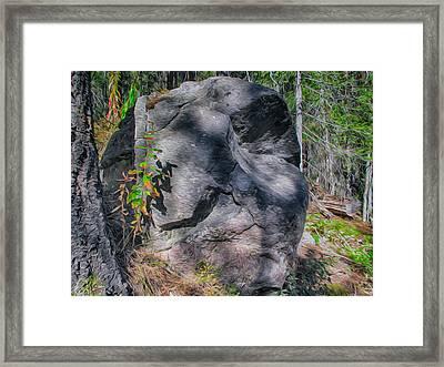 Rocky Ancestor Framed Print by Omaste Witkowski