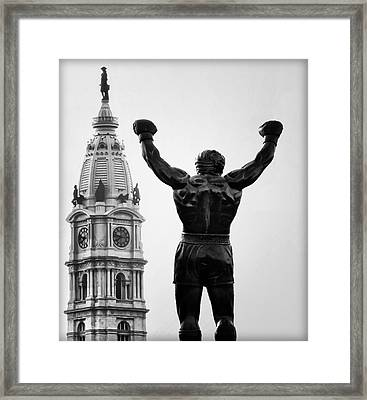 Rocky And Philadelphia Framed Print by Bill Cannon