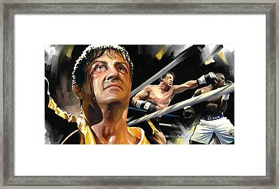 Rocky Artwork 1 Framed Print by Sheraz A