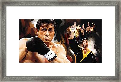 Rocky Artwork 2 Framed Print by Sheraz A