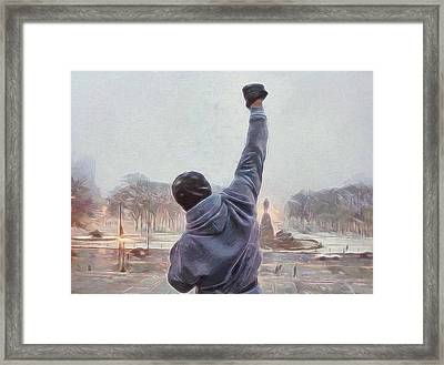 Rocky Balboa Framed Print by Dan Sproul