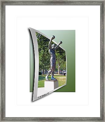 Rocky Balboa - Oof Framed Print by Brian Wallace