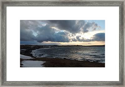 Rocky Beach 3 Framed Print by Bozena Zajaczkowska