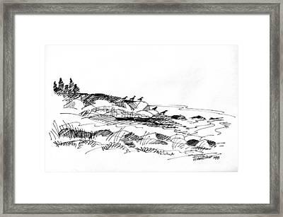 Rocky Beach Monhegan 1998 Framed Print by Richard Wambach