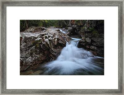 Rocky Cascade Framed Print by Mike Farslow