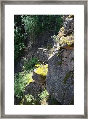Rocky Cliff Framed Print