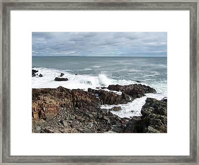 Rocky Coast Framed Print by Catherine Gagne