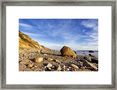 Rocky Coast Framed Print by John Greim