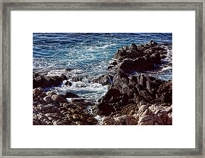 Rocky Coast Framed Print by Linda Phelps