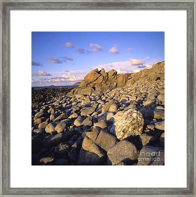 Rocky Coast. Normandy. France. Europe Framed Print by Bernard Jaubert
