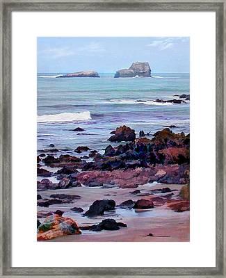 Rocky Coast Off San Simeon Framed Print