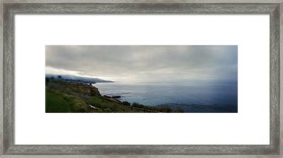 Rocky Coastline At Sunset, Long Beach Framed Print by Panoramic Images