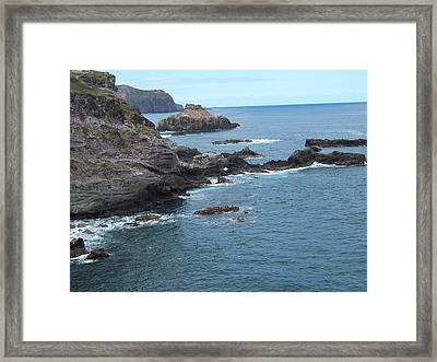Framed Print featuring the photograph Rocky Coastline by Sheila Byers