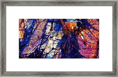 Rocky Color Explosion Framed Print
