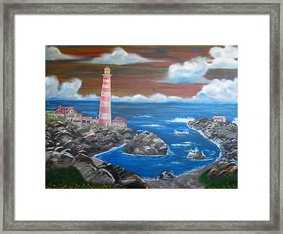 Rocky Cove Framed Print