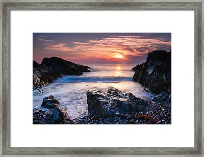 Rocky Cove Framed Print