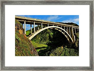 Rocky Creek Bridge Framed Print by Benjamin Yeager