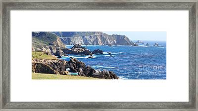 Rocky Creek Bridge Framed Print