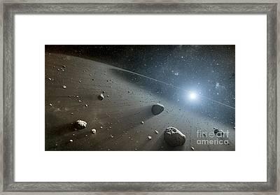 Rocky Debris Around Vega, Artwork Framed Print by Nasa