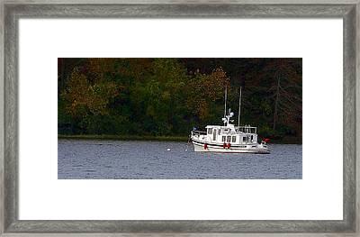 Rocky Fork Lake Framed Print by Jenny Bowman