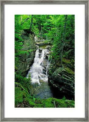 Rocky Glen Falls Framed Print
