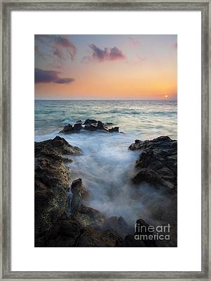 Rocky Inlet Sunset Framed Print by Mike  Dawson