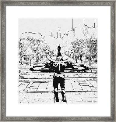 Rocky Is Philadelphia Framed Print by Bill Cannon