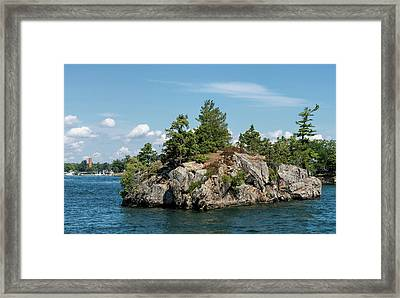 Rocky Island On Saint Lawrence River Framed Print
