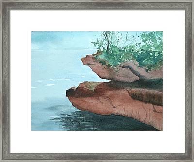Rocky Ledge Framed Print