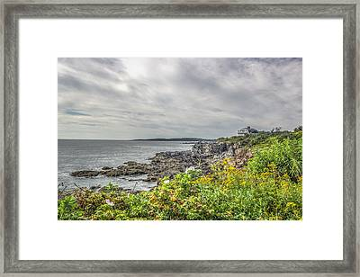 Framed Print featuring the photograph Rocky Maine Shoreline by Jane Luxton