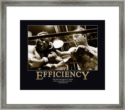 Rocky Marciano Efficiency  Framed Print by Retro Images Archive