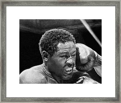 Rocky Marciano Fist Framed Print by Underwood Archives
