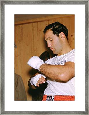 Rocky Marciano Getting Ready Framed Print by Retro Images Archive