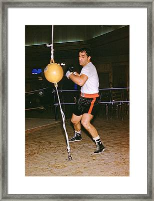 Rocky Marciano Training Framed Print
