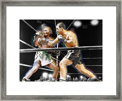 Rocky Marciano V Jersey Joe Walcott Framed Print