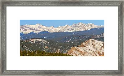 Rocky Mountain Continental Divide Winter Panorama  Framed Print