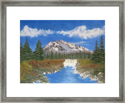 Rocky Mountain Creek Framed Print by Tim Townsend