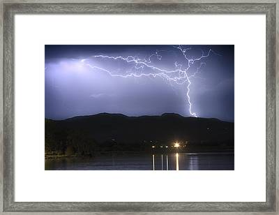 Rocky Mountain Foothills Lightning Extravaganza Framed Print