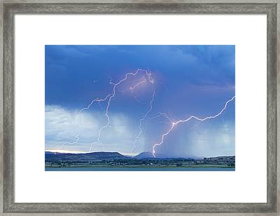 Rocky Mountain Foothills Lightning Strikes Framed Print by James BO  Insogna