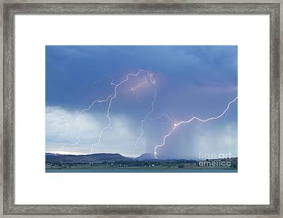 Rocky Mountain Front Range Foothills Lightning Strikes Framed Print