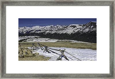 Rocky Mountain Gorge Framed Print by Tom Wilbert