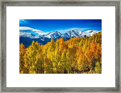 Rocky Mountain High Autumn View Framed Print